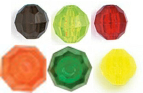 BEADS 6MM FACETED PLASTIC 30pk