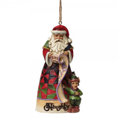Naughty & Nice Santa (Hanging Ornament) - The Gift Shop Oulton Broad