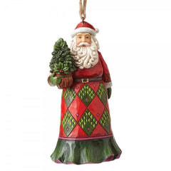 Evergreen Santa (Hanging Ornament) - The Gift Shop Oulton Broad