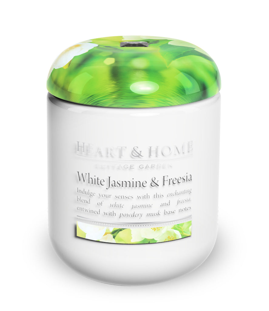 White Jasmine & Freesia Large Candle - The Gift Shop Oulton Broad
