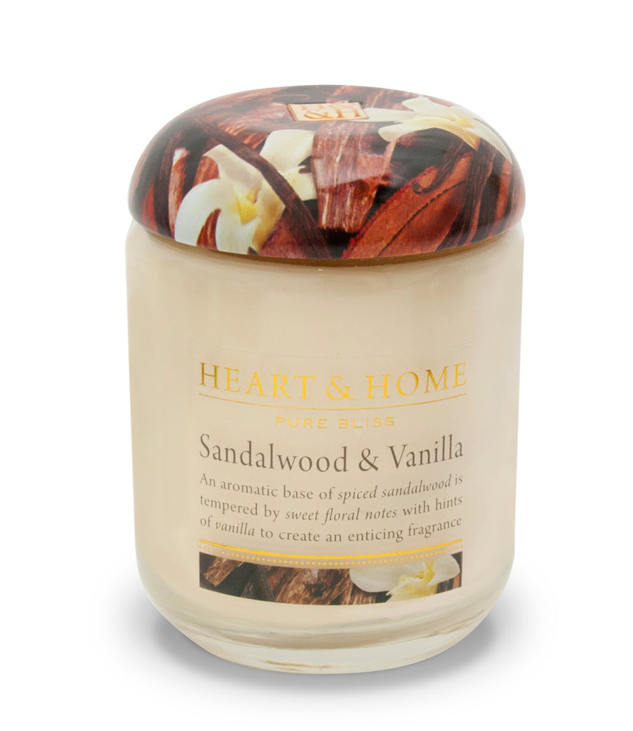 Sandalwood & Vanilla Large Candle - The Gift Shop Oulton Broad