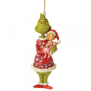 The Grinch Holding Cindy Lou Hanging Ornament