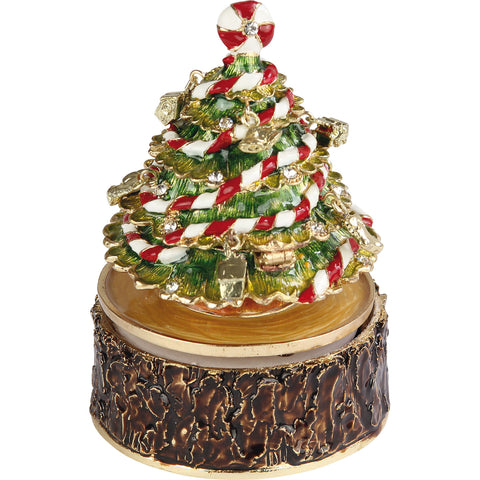 Christmas Tree Musical Trinket Box