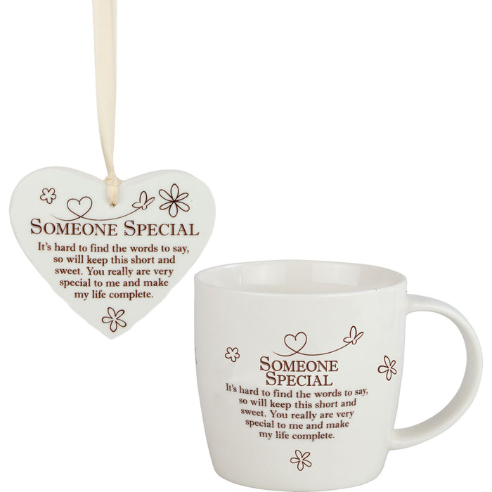 Someone Special - Mug and Ceramic Heart Gift Set