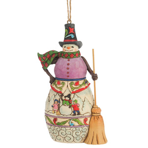 Winter Scene Snowman (Hanging ornament) - The Gift Shop Oulton Broad