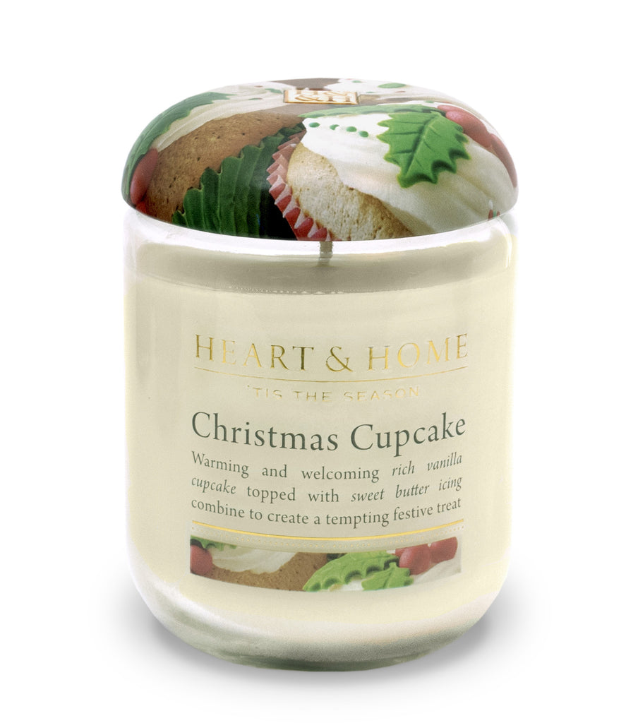 Christmas Cupcake Large Candle - The Gift Shop Oulton Broad