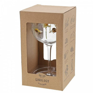 Bubble Bee Copa Gin Glass - Ginology from thetraditionalgiftshop.com