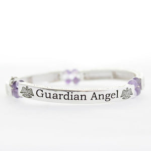 Amethyst Guardian Angel Sentiment Bracelet - Pure by Coppercraft from thetraditionalgiftshop.com