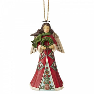 Angel with Wreath (Hanging Ornament) - Heartwood Creek by Jim Shore from thetraditionalgiftshop.com