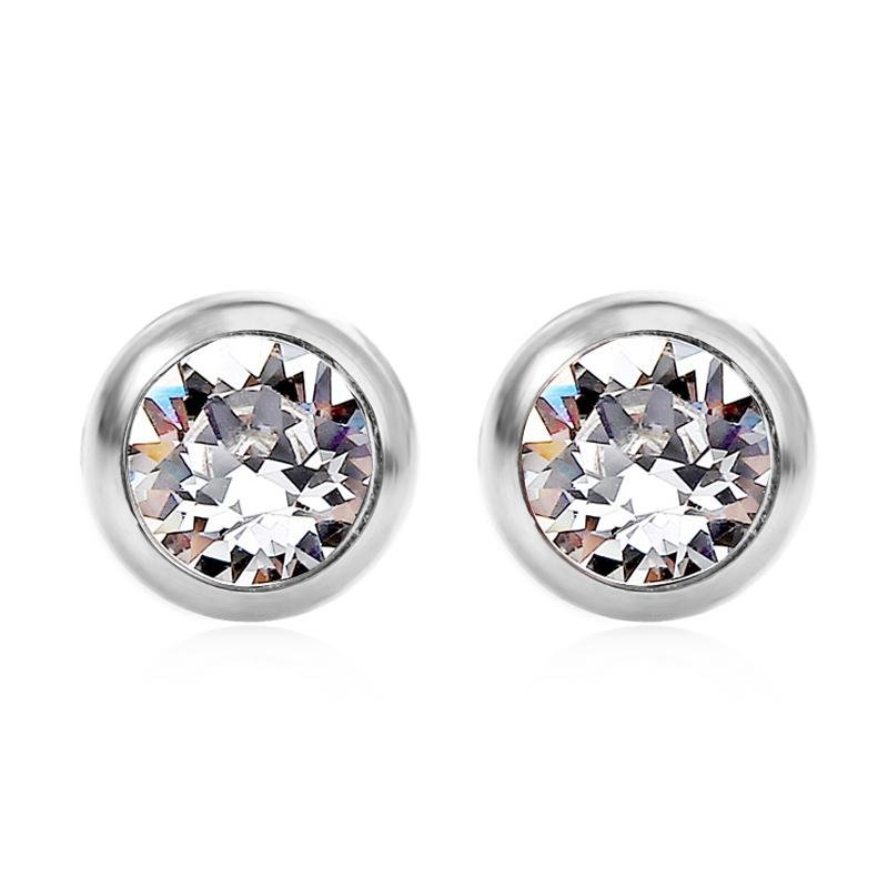 April Solitare Swarovski Birthstone Earrings