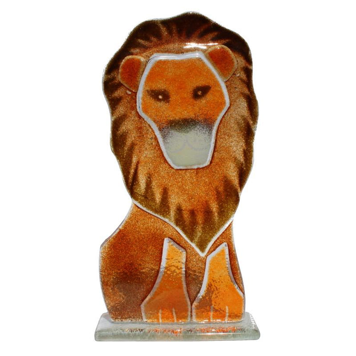 Aslan the Lion Fused Glass Ornament