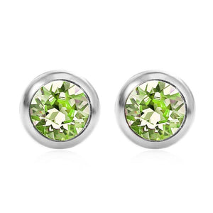 August Solitare Swarovski Birthstone Earrings - Pure by Coppercraft from thetraditionalgiftshop.com