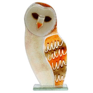 Barn Owl Fused Glass Ornament - D&J Glassware Fused Glass from thetraditionalgiftshop.com