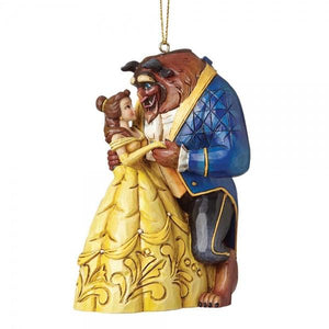 Beauty & The Beast (Hanging Ornament) - Disney Traditions from thetraditionalgiftshop.com