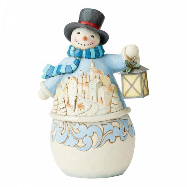 Calm & Bright (Snowman with Lantern)
