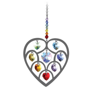 Chakra Heart of Hearts Crystal Suncatcher - Wild Things Crystal from thetraditionalgiftshop.com