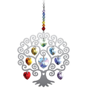 Chakra Tree of Life Crystal Suncatcher - Wild Things Crystal from thetraditionalgiftshop.com