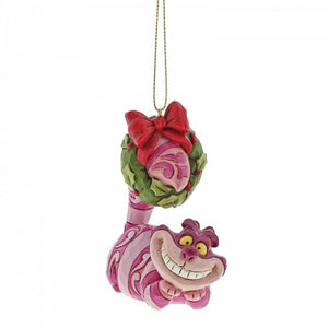 Cheshire Cat with Wreath (Hanging Ornament) - Disney Traditions from thetraditionalgiftshop.com