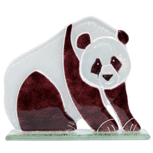 Chi-Chi the Panda Fused Glass Ornament - D&J Glassware Fused Glass from thetraditionalgiftshop.com