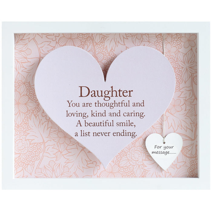 Daughter Sentiment Heart Frame