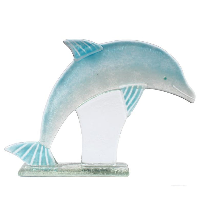 Dolphin Fused Glass Ornament