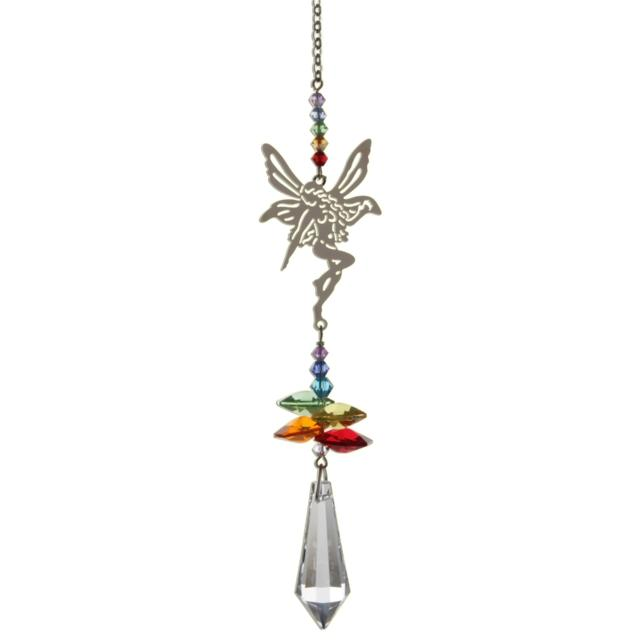 Fairy (Rainbow) Crystal Fantasies Suncatcher - Wild Things Crystal from thetraditionalgiftshop.com