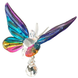 Fantasy Glass Butterfly - Tropical - Wild Things Crystal from thetraditionalgiftshop.com