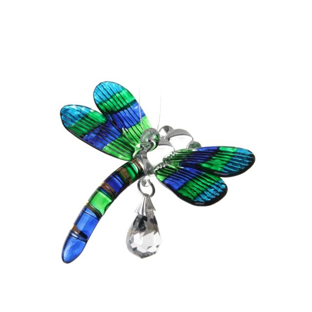 Fantasy Glass Dragonfly - Peacock