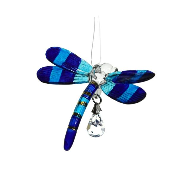 Fantasy Glass Dragonfly - Sapphire
