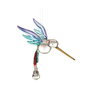 Fantasy Glass Hummingbird - Rainbow - Wild Things Crystal from thetraditionalgiftshop.com