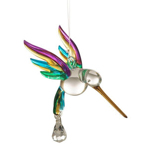 Fantasy Glass Hummingbird - Tropical - Wild Things Crystal from thetraditionalgiftshop.com