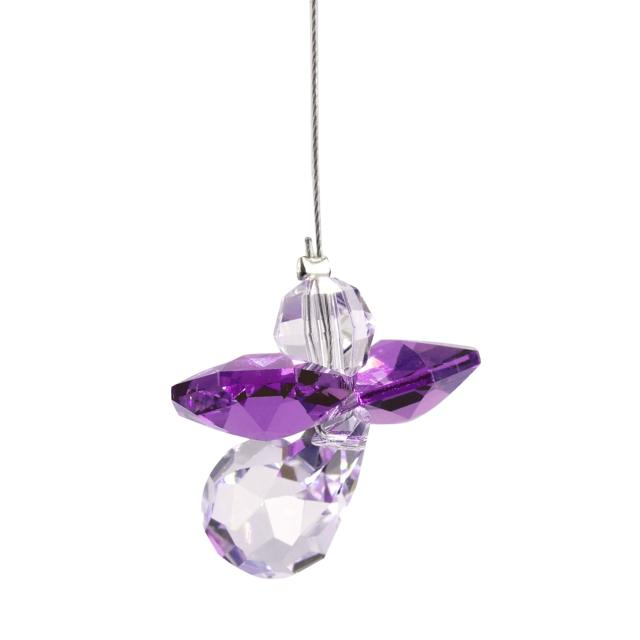 February Birthstone Crystal Guardian Angel – Amethyst (Small)