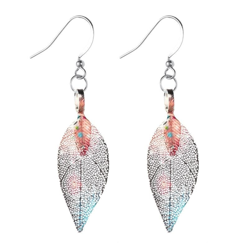 Galaxy Leaf Earrings