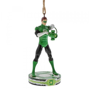 Green Lantern Silver Age (Hanging Ornament) - DC Comics by Jim Shore from thetraditionalgiftshop.com