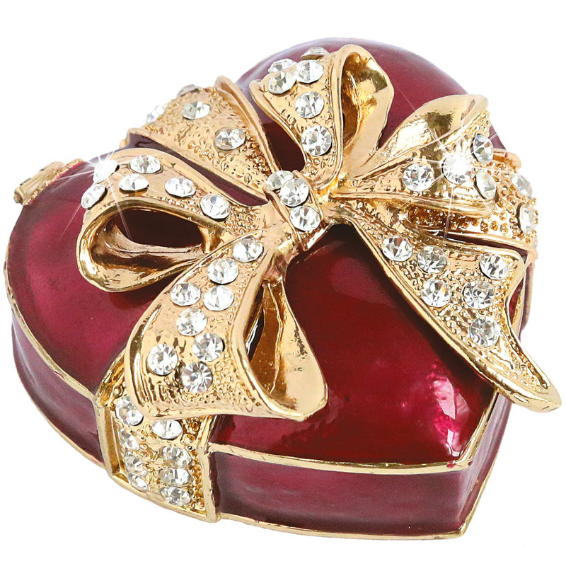 Heart Shaped Present Trinket Box