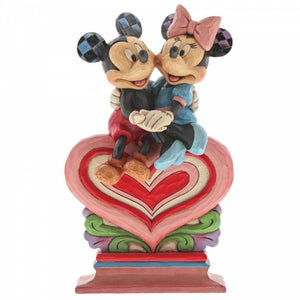 Heart to Heart (Mickey & Minnie Mouse on Heart) - Disney Traditions from thetraditionalgiftshop.com