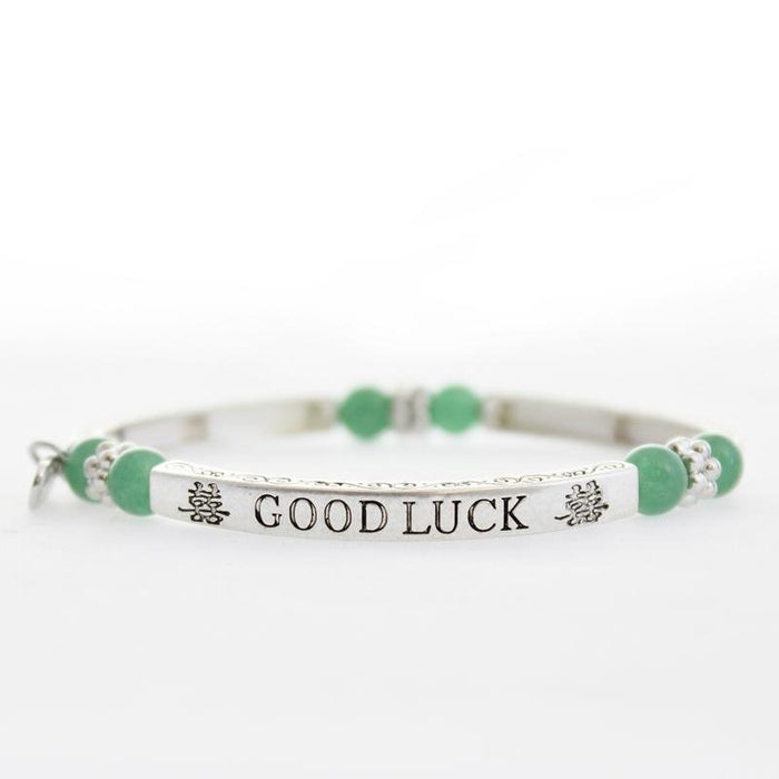 Jade Good Luck Sentiment Bracelet