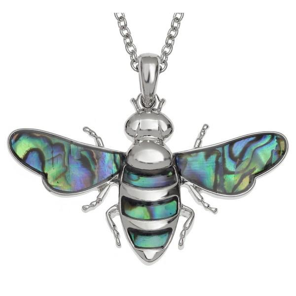 Large Bee Paua Shell Necklace