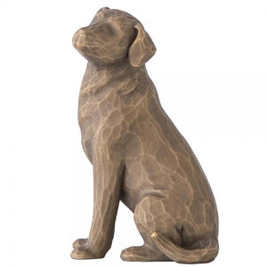 Love My Dog (Dark) - Willow Tree from thetraditionalgiftshop.com
