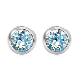 March Solitare Swarovski Birthstone Earrings - Pure by Coppercraft from thetraditionalgiftshop.com