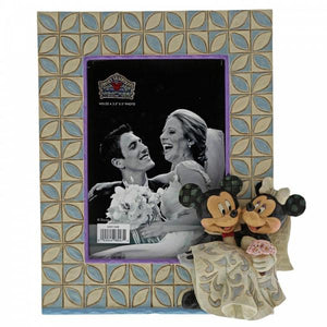 Mickey & Minnie Wedding Frame - Disney Traditions from thetraditionalgiftshop.com