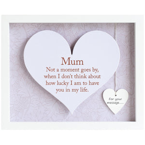 Mum Sentiment Heart Frame - Said with Sentiment from thetraditionalgiftshop.com