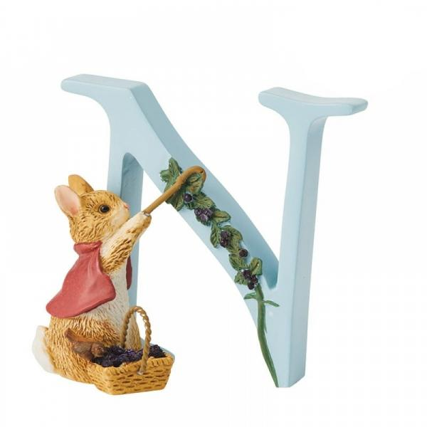 """N"" Cottontail Alphabet Letter - Beatrix Potter from thetraditionalgiftshop.com"