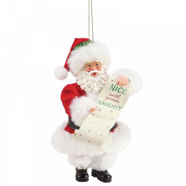 Naughty & Nice Hanging Ornament - Possible Dreams by Department56 from thetraditionalgiftshop.com