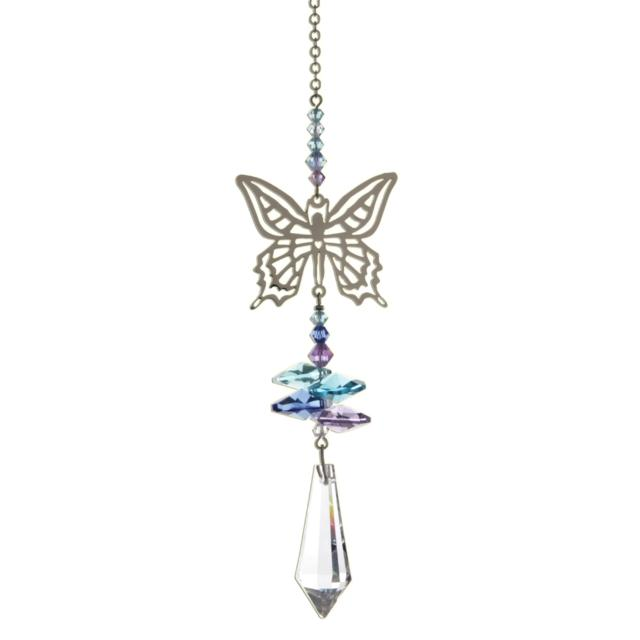 Butterfly (Pastel) Crystal Fantasies Suncatcher