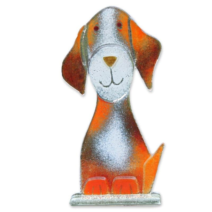 Poppy the Dog Fused Glass Ornament
