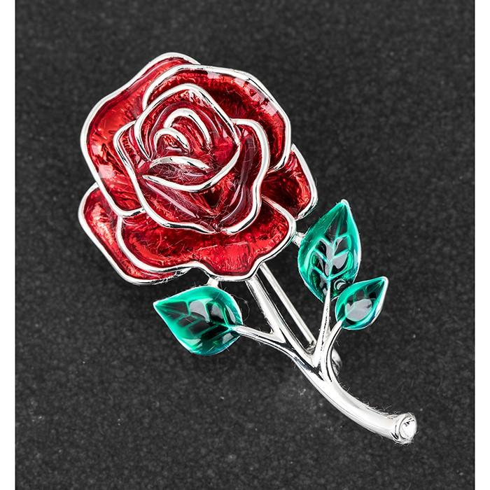 Pretty Rose Brooch - Equilibrium Jewellery from thetraditionalgiftshop.com