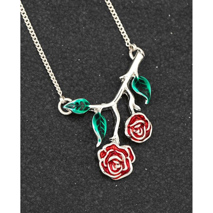 Pretty Rose Stem Necklace