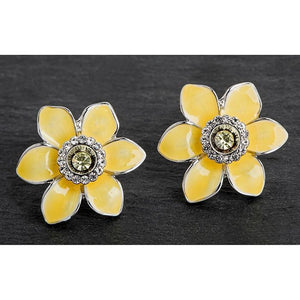 Radiant Daffodil Stud Earrings - Equilibrium Jewellery from thetraditionalgiftshop.com