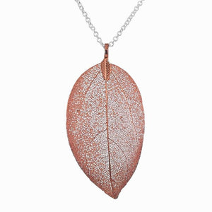 Red Tea Leaf Necklace - Pure by Coppercraft from thetraditionalgiftshop.com